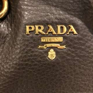 Prada all leather tote bag 皮手袋