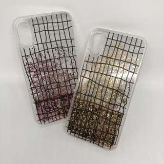 IPhone X 電話Case 流砂款 軟邊