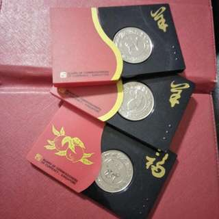 3pc of zodiac  $10 CNY coins