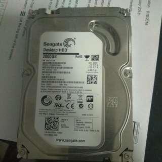 Seagate Desktop HDD 2TB 2000GB 7200RPM