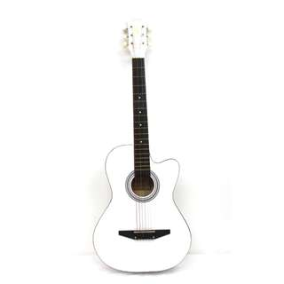 "Lowest price in town! 38"" White Acoustic Guitar at $75"