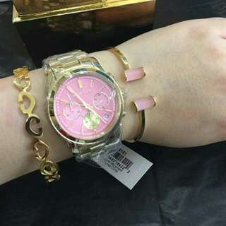 Mk watch with 2 bangles