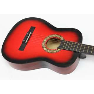 "Lowest price in town! 38"" Red Acoustic Guitar at $75"