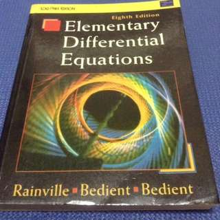 Elementary Differential Equation by Rainville