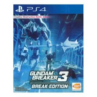 PS4 Gundam Breaker 3 Break Edition (R3)