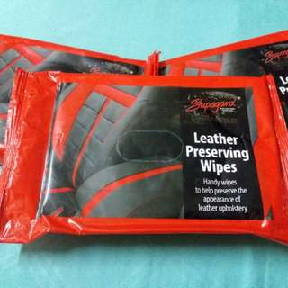 Wipes utk protect seat kereta jenis leather