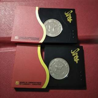 2pc of zodiac $10 CNY coins 2 x16