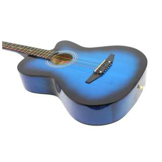 "Lowest price in town! 38"" Blue Acoustic Guitar at $75"
