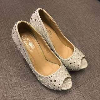 高跟鞋 婚鞋 訂婚 結婚 宴客 送客 涼鞋 24號