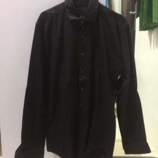 EXCECUTIVE BLACK LONG SHIRT