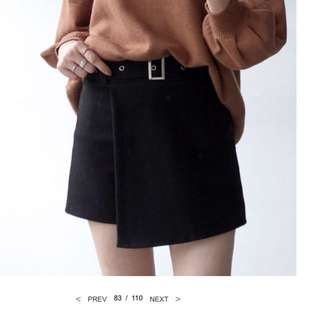 轉賣水莎鬆緊毛呢短褲裙