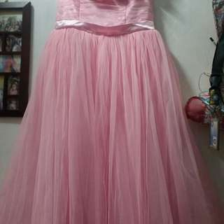 Pink Balloon Gown
