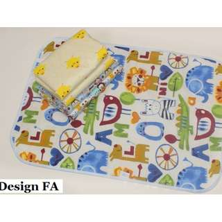Diaper Changing Mat★Stroller mattress protector★Baby cot bedsheet protector★ Waterproof base Mat★ Baby infant mat ★ Breathable ★Cotton ★Toilet training toddler kids★50*70cm (Half cot size)