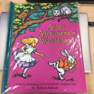 New Alice's adventures in wonderland pop-up 3D book