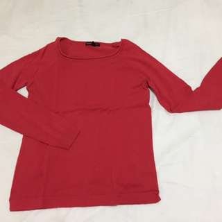 Mango knitted red top
