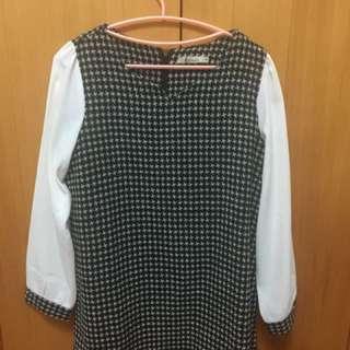 🚚 菱格紋洋裝