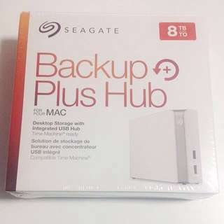 Seagate Backup Plus Hub for Mac 8TB External Desktop Hard Drive