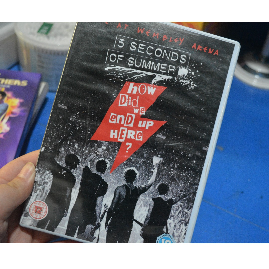 5 Seconds Of Summer How Did We End Up Here Dvd Hobbies Toys Music Media Music Accessories On Carousell