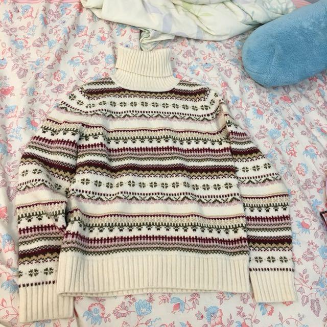穿一次)香港製毛衣高領