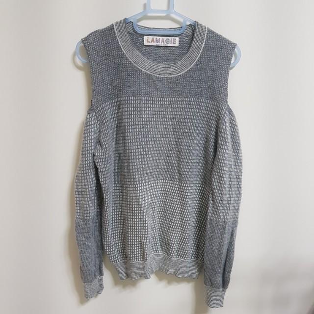 [百元]露肩針織毛衣