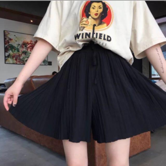 全新🔥百摺黑褲裙