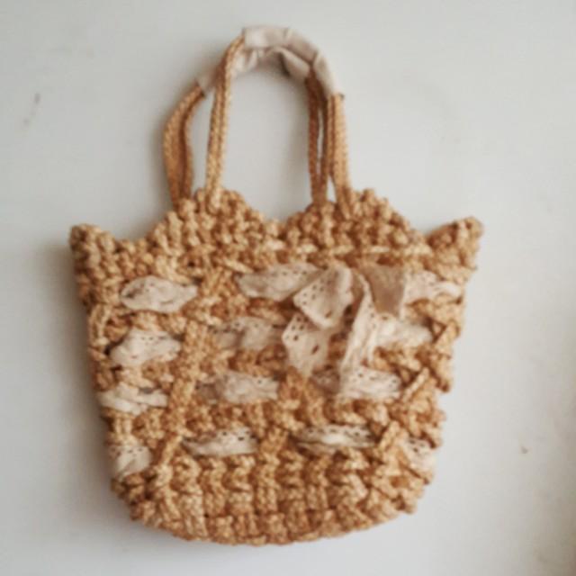 渡假風  編織提包