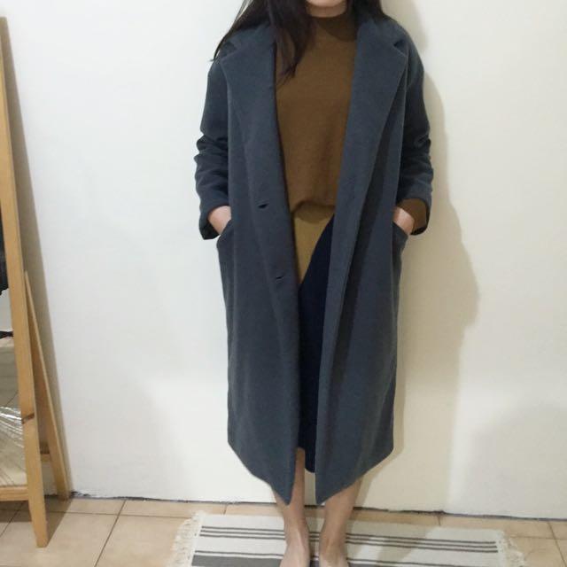 降價[二手] 正韓 鋪棉寬鬆長版大衣