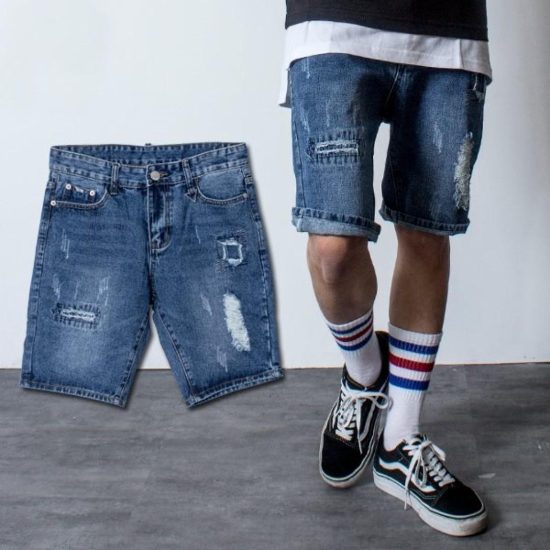 全新 台牌 ZOZ 洗舊破壞 牛王 短褲 M 30腰 破洞褲 破壞褲 只有一件 重刷破壞 可議價