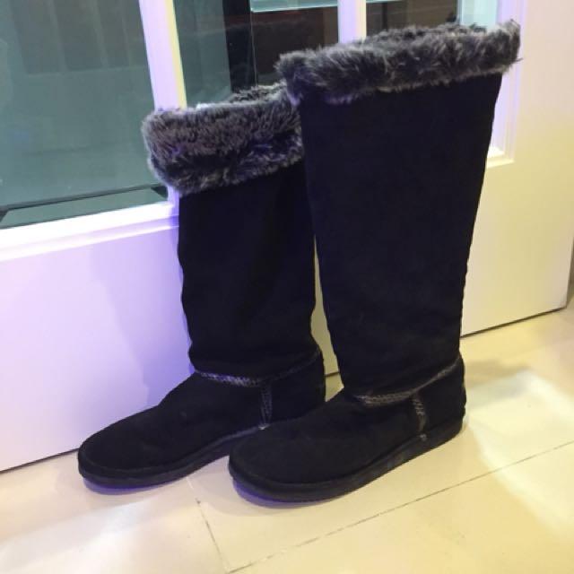 全新正品 Juicy Couture 9號 雪靴 高筒靴