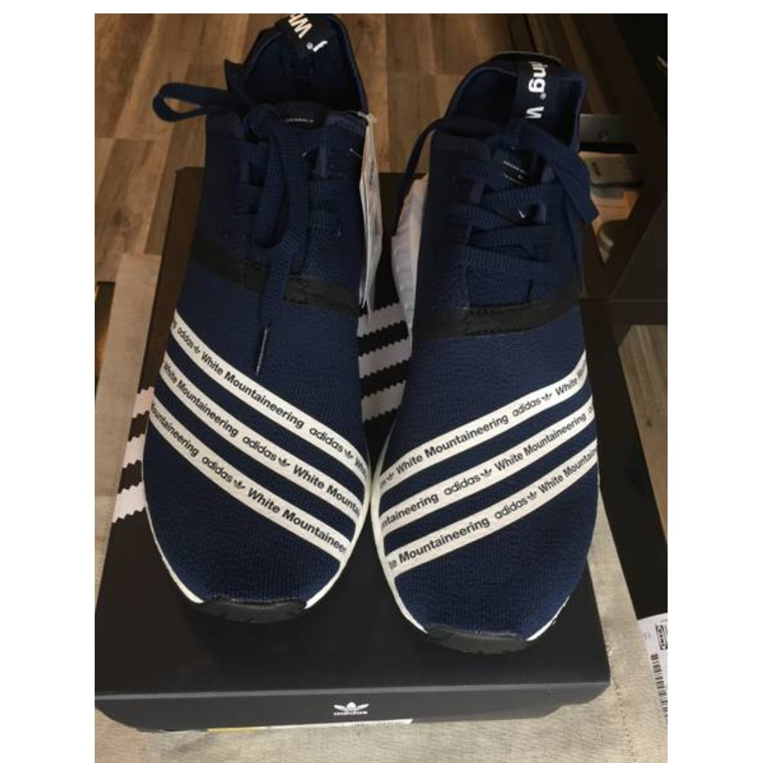 07a34b331 Adidas NMD R2 White Mountaineering Navy Blue