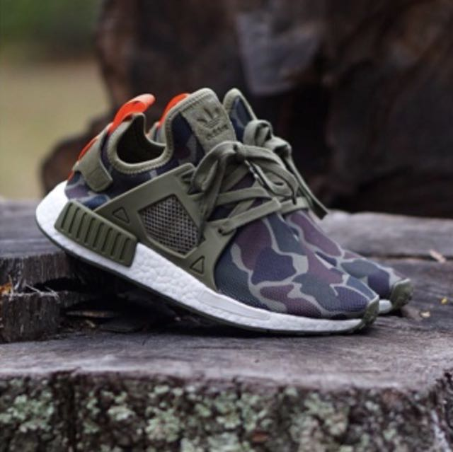 meet 6d255 46440 ADIDAS NMD XR1 DUCK CAMO Size 13US OLIVE GREEN BA7232, Mens Fashion,  Footwear on Carousell