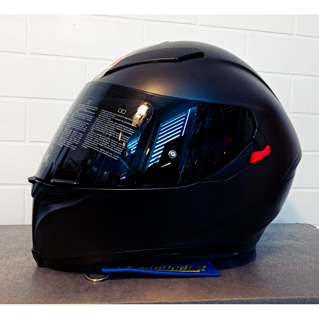 Agv K5 S Matte Black Motorcycles Motorcycle Apparel On Carousell