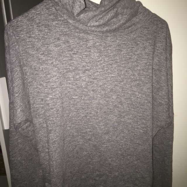 All about eve grey roll neck long sleeved top