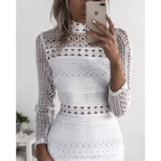Angelique White Lace Dress