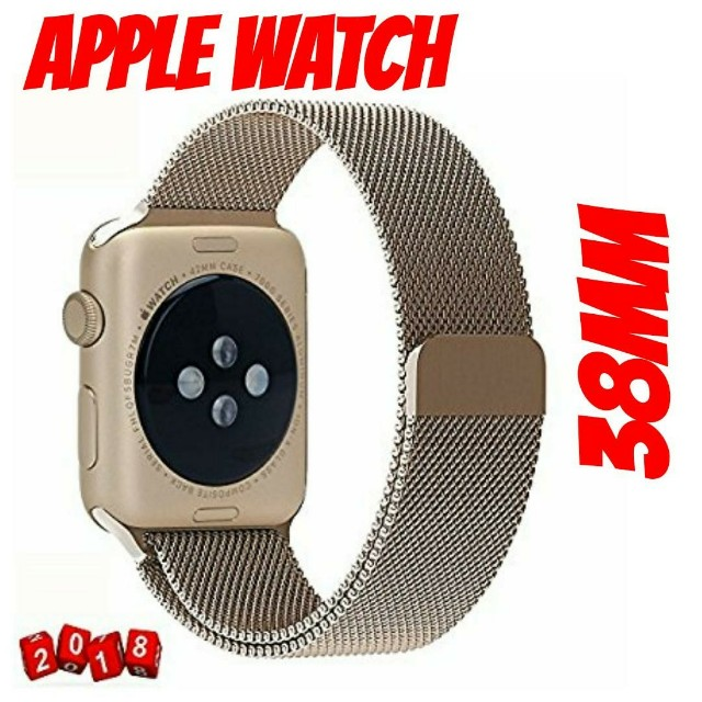 Apple Watch (38MM) Champagne Gold Mesh Band
