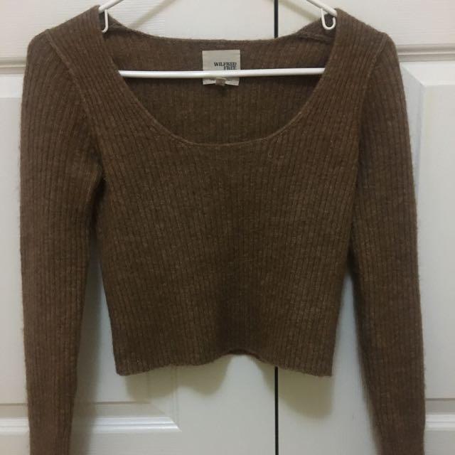 Aritzia Wilfred Free Yarn Sweater Size S