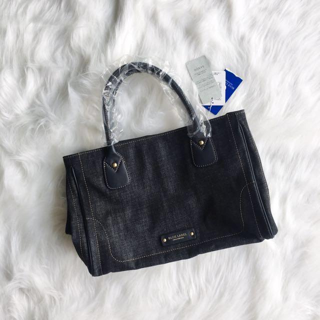 Authentic Burberry Blue Label Crestbridge Denim Tote Bag Midjan55 Luxury Bags Wallets On Carou