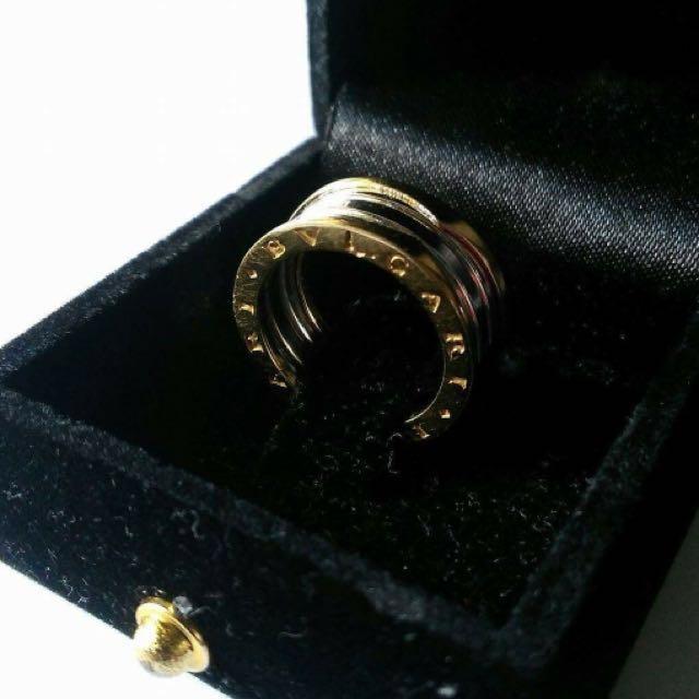 Authentic Bvlgari ring white gold