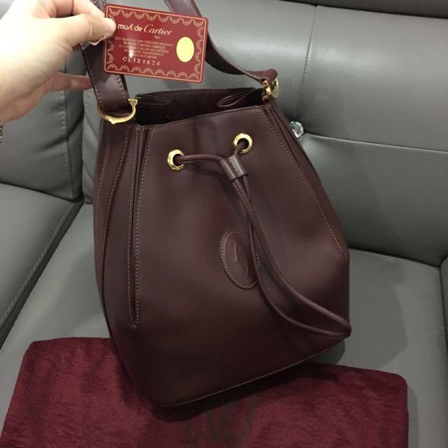 💯authentic Cartier bucket bag
