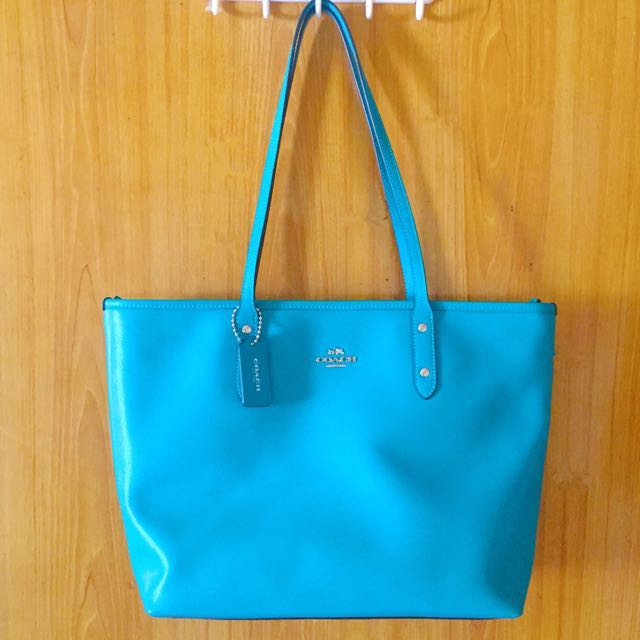 AUTHENTIC COACH BAG (OCEAN BLUEGREEN)