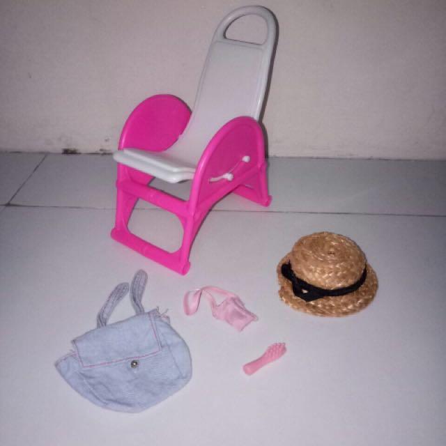 barbie chair & accessories
