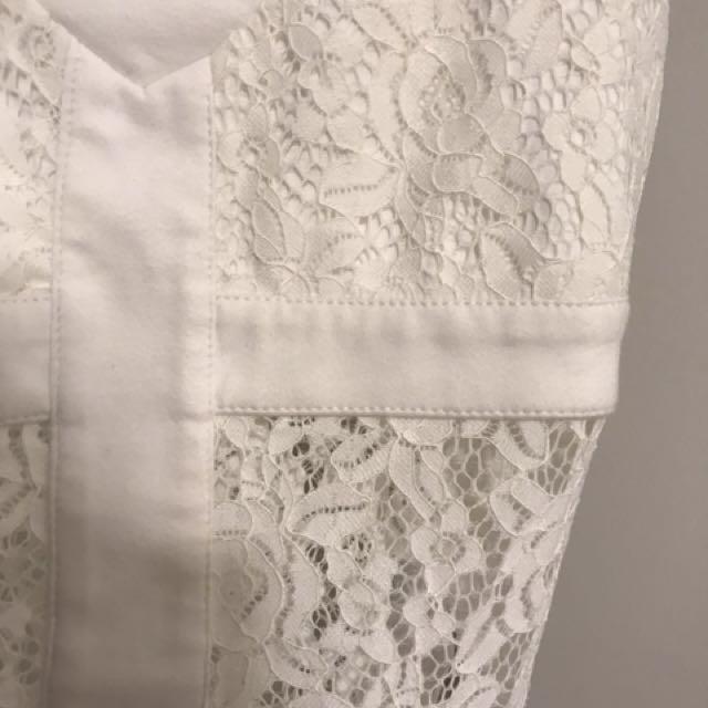 BARDOT VINTAGE   Lace Ivory Bodysuit