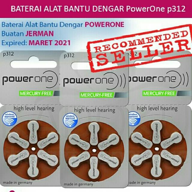 Baterai Alat Bantu Dengar Powerone 312 .Tipe Terbaru Mercury-Free. Source · photo photo photo