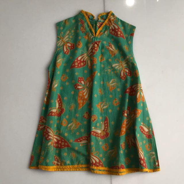 Batik cheongsam top