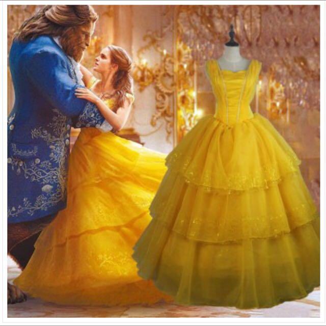 Beauty and the Beast Belle Modern Costume Cosplay Ball Gown