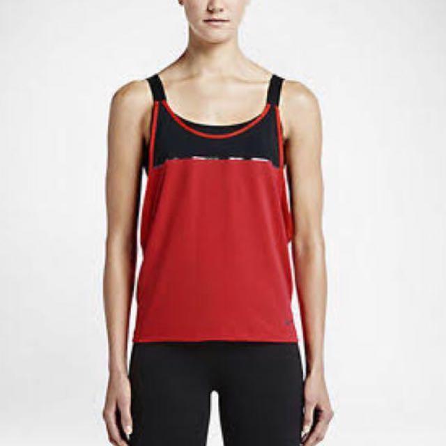 Black Nike Women's 2 In 1 Loose Sports Bra Tank Top -S