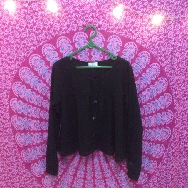 blouse ciffon crop