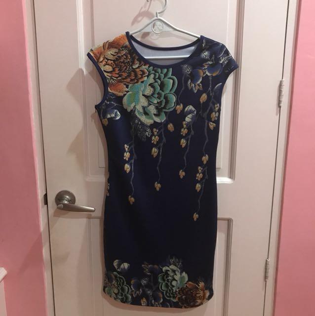 Blue Dress Body Con
