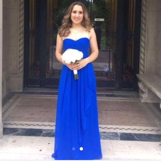 Blue gown Prom or bridesmaid dress