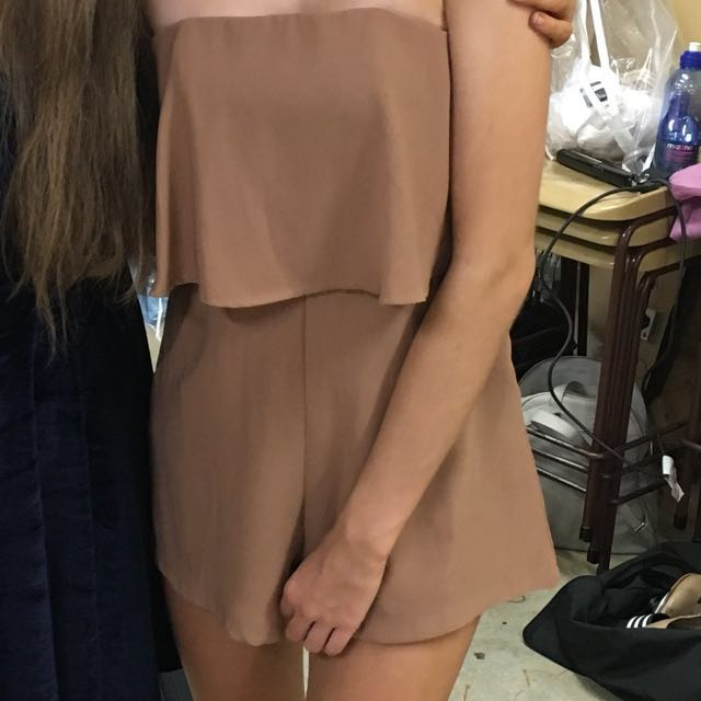 BNWT Brown playsuit